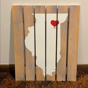 Illinois State Wood Art - 18x15